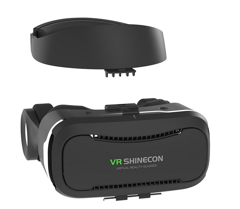 2017 VR Shinecon 4.0 3D Virtual Reality Glasses Headset VR BOX Helmet Headphone For 4.7-6.0 Inches Smartphones with R1 Gamepad