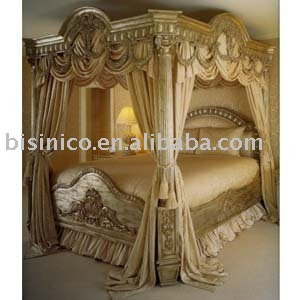 luxury european classical wood carving bed, bedroom furniture(China (Mainland))