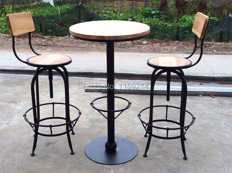 Achetez en gros table et chaise de fer en ligne des for Chaise de bar en fer forge