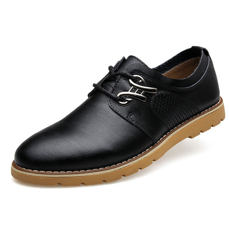 2015 British style Brand Classic Men's Oxfords shoes mens Business shoes Flats Men 100% genuine leather shoes(China (Mainland))