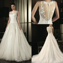 Don's Mariage Romantic A-Line Wedding Dresses Bridal Gown Robe Tulle Prices In Euros Vestido De Noiva(China (Mainland))