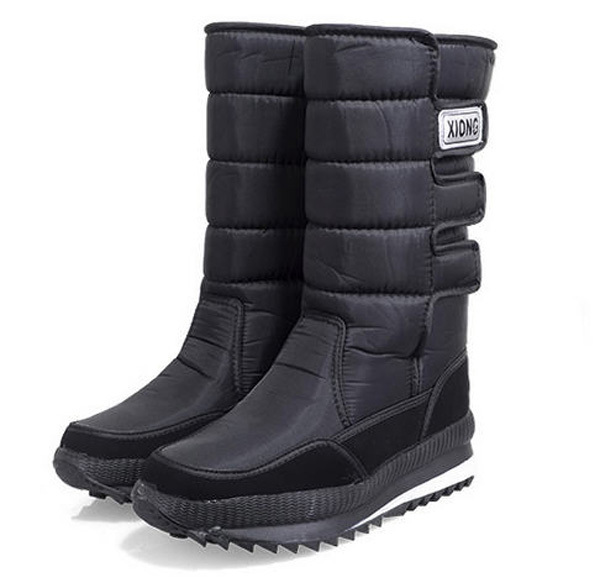 2014 winter men women outdoors skiing warm snow boot skid resistance waterproof thick cotton-padded shoes plush velcro boot E745<br><br>Aliexpress