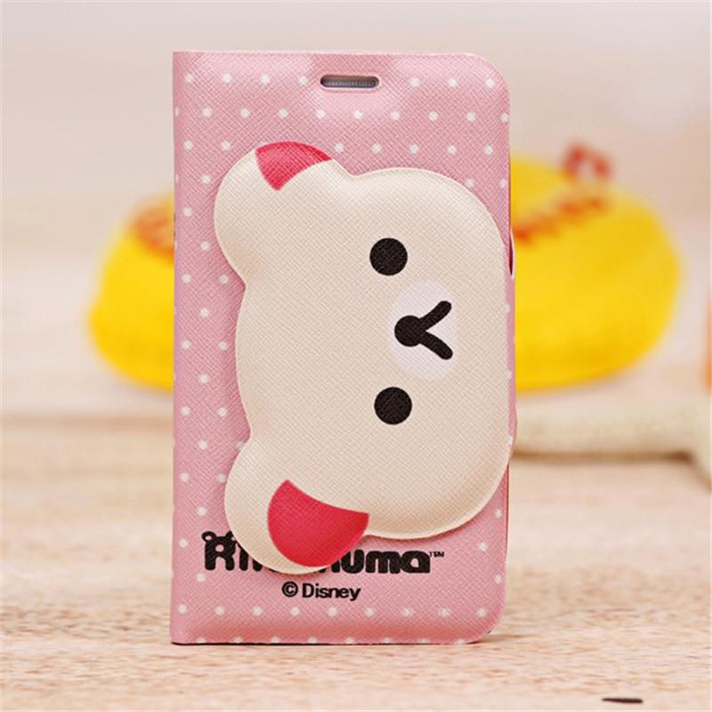 Cute Cartoon Rilakkuma Bear Leather Case For Samsung Galaxy Grand Neo Plus I9060i I9060 grand duos i9082 Wallet Card Slost Stand(China (Mainland))