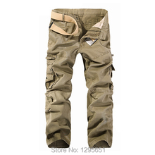 5 Colors Men Casual Military Pants 2014 New Cargo Camo Combat Pants Trousers Size 28-34,36,38 Free Shipping