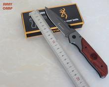"3.7 "" Browning cuchillo carpeta acero 440C navajas herramienta edc cerca de longitud con 125 mm cuchillo que acampa esee cuchillo G16072"