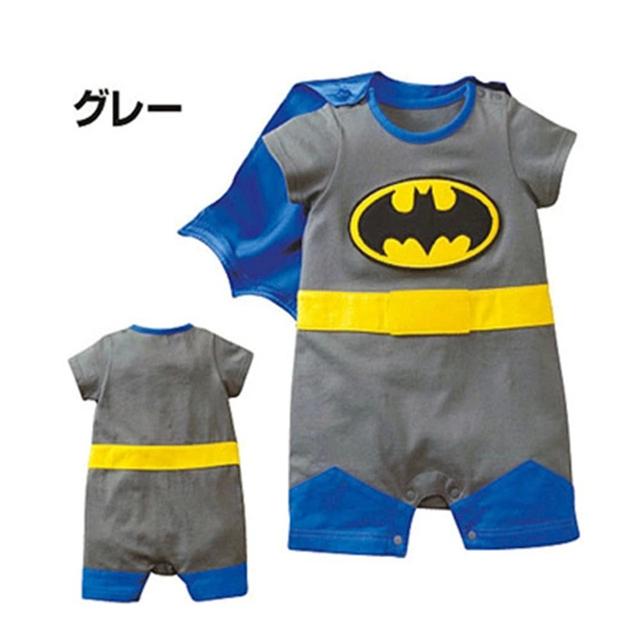 Новый Стиль Baby Boy Ползунки Новорожденных детская Одежда Симпатичные Герой Супермен Бэтмен Коротким Рукавом Bebe Детей Малышей Комбинезон 1 шт. HB023