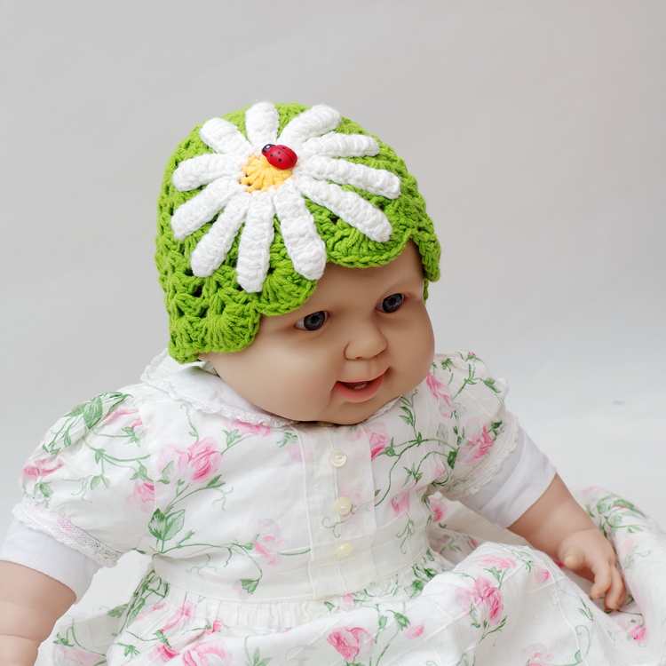 newborn photography props baby flower Knitted Crochet hat cap Infant beanies Girl Boy Gift funny winter - Royal apparel accessories factory store