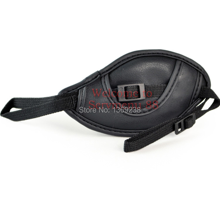 Free shipping one black piece DSTT0407 Leather Wrist Hand Grip Strap for Canon E1 Nikon Sony