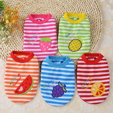 Buy 9 Color Novel Puppies Coat Embroidery Fruits Clothing Summer Dog Clothes T-Shirt Vest Puppy Cat Teddy Chihuahua Apparel for $2.94 in AliExpress store