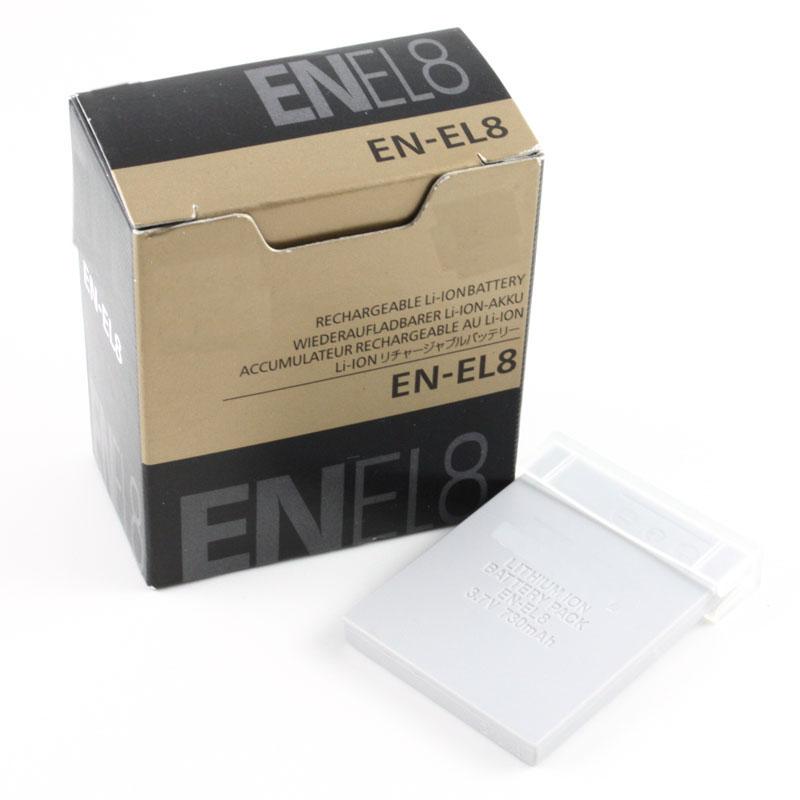 EN-EL8 Battery EL8 ENEL8 Batteries For Nikon COOLPIX S1 S2 S3 S4 S5 S6 S7 S7C S8 S9 S51 S50 S52 P1 P2 L1 L2 MH-62(China (Mainland))