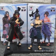Free Shipping Anime Naruto Uchiha Sasuke + Uchiha itachi PVC Action Figures Collectible Model Toys 2pcs/set
