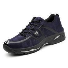 Мужская защитная обувь, дышащие летние ботинки, противоскользящие, с прокалыванием, с стальным носком, дышащие, для работы(China)