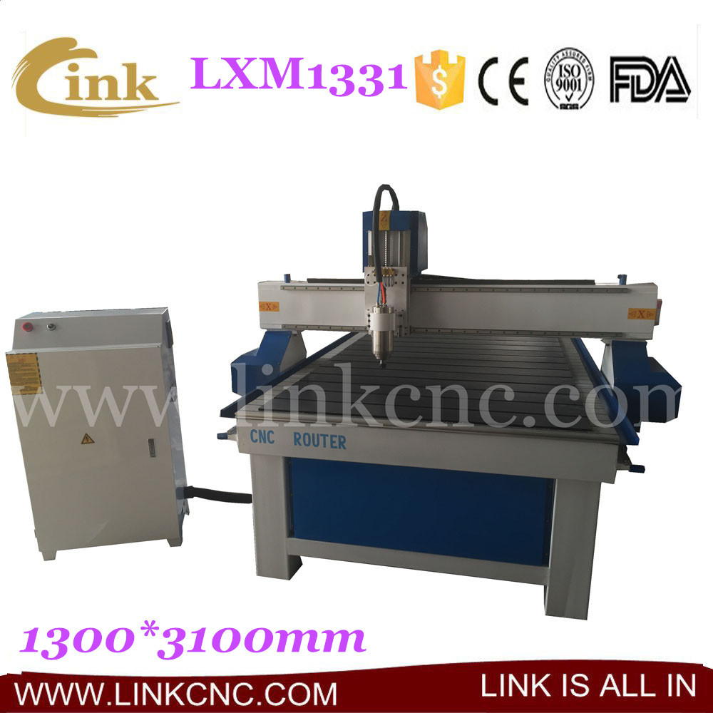 LXM1331 New designed lathe cnc router wood, large working area cnc router 1331 from JINAN LINK(China (Mainland))