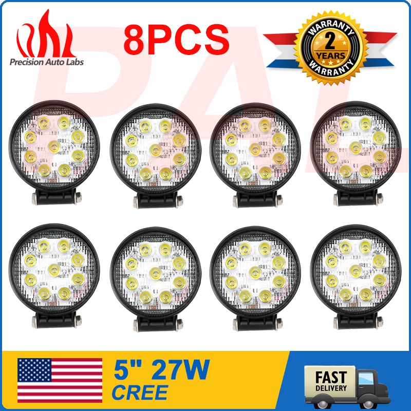 8PCS 27W High Power Offroad Light Round Off road LED Work Lamp(China (Mainland))