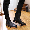 England autumn and winter men s leather high top boots Martin boots tooling boots retro motorcycle