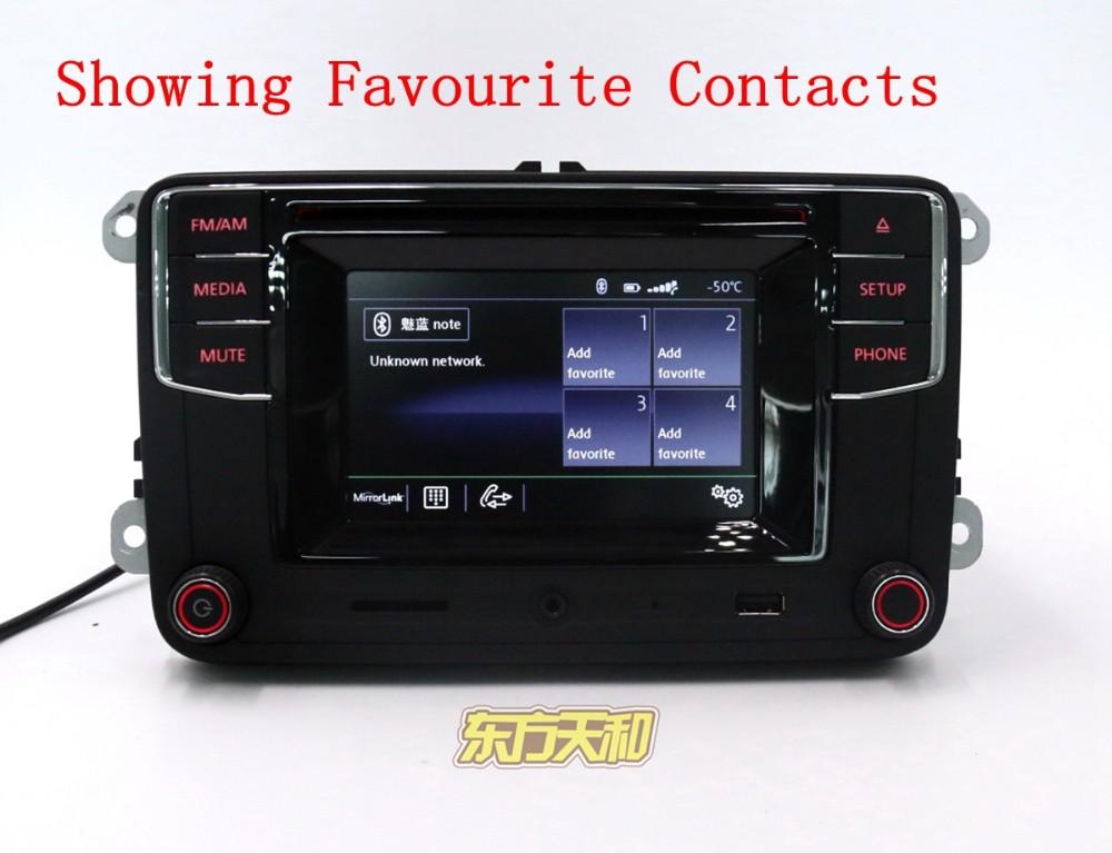 Купить Автомобильного Радиоприемника Bluetooth Радио Высокой Версии MIB RCD510 RCN210 RCD330 G RCD330G Для Golf 5 6 Jetta CC Tiguan Passat