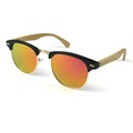 Free Shipping 4Colors Classical Half PC Frame with Bamboo Temple Eyewear and Polarized REVO Lens Spring