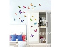 Alluring PVC Butterfly Peel and Stick Wall Decal.Stickers.wall stick.free shipping