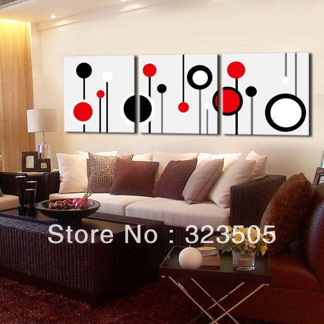 modern living room red and black