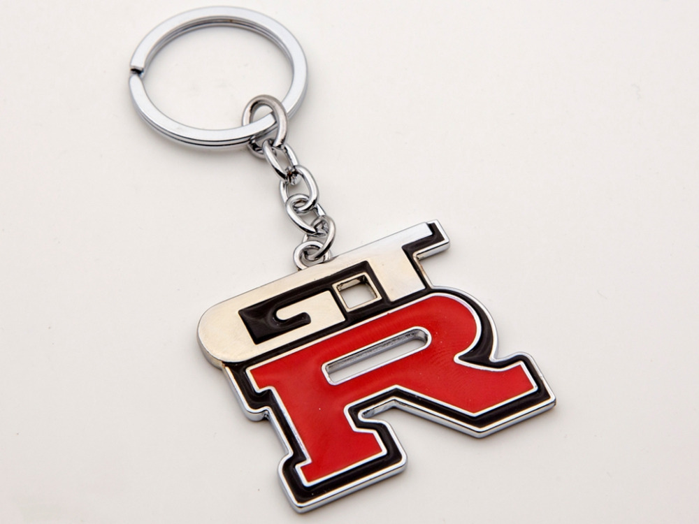 Car Styling Real Carbon Metal Key Ring Keyring Chain GTR For Nissan Skyline R33 R34(China (Mainland))