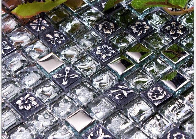 Aliexpress.com : acquista mosaico di vetro di cristallo galvanica ...