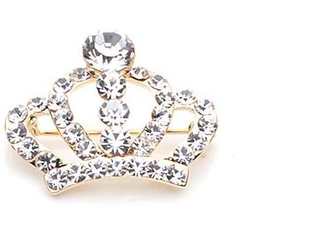 Cheap Costume Jewelry Rhinstone Crown Brooch King Crystal Pins Women A018 - China's export trade store