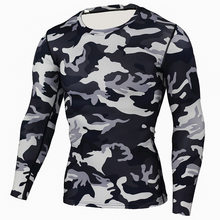 冬のスーツ男性 2 ピース男性用下着迷彩トラックスーツ男性格闘技 Rashgard キットボディービル Tシャツ XXXL(China)