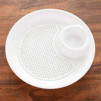 Fashion 5PCS/Lot Multifunctional PP Double Layers Boiled Dumplings Fruit Dish Bowl Draining Plate Tray With Vinegar Disc
