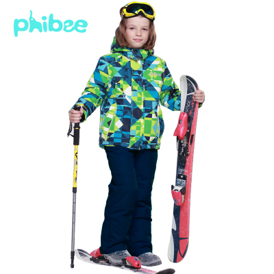 2015FREE SHIPPING phibee kids ski warm suit winter boy's clothing set children skiing suit jacket pant Russian -20-30 DEGREE(China (Mainland))