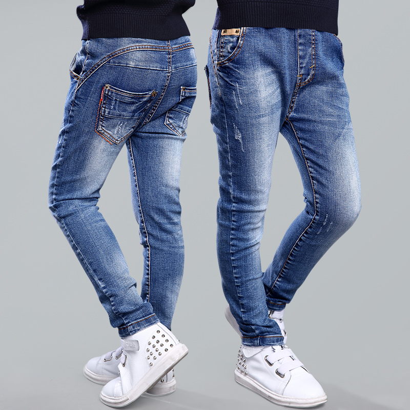 Tutuyu 2016 Spring Autumn Fashion Boys Jeans Children 39 Selastic Style Jeans Long Blue Denim Jeans
