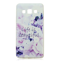 For Samsung Galaxy A3 Case 18 Patterns Painted Unique Colored Drawing Ultra-Thin TPU Phone Back Cover For Samsung Galaxy A3