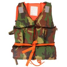 1PCS Youth Kid Size Professional Life Jacket Child Polyester Camouflage Water Sports Foam Flotation survival Vest Safety Product(China (Mainland))