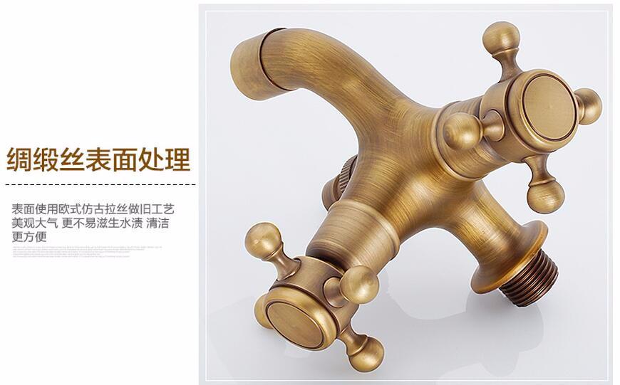 Купить 2015 Новый Стиль Анти-бронзовый Кран Кран Латунный настенный двойное использование Ванная Комната Стиральная Машина Открытый кран сад смеситель