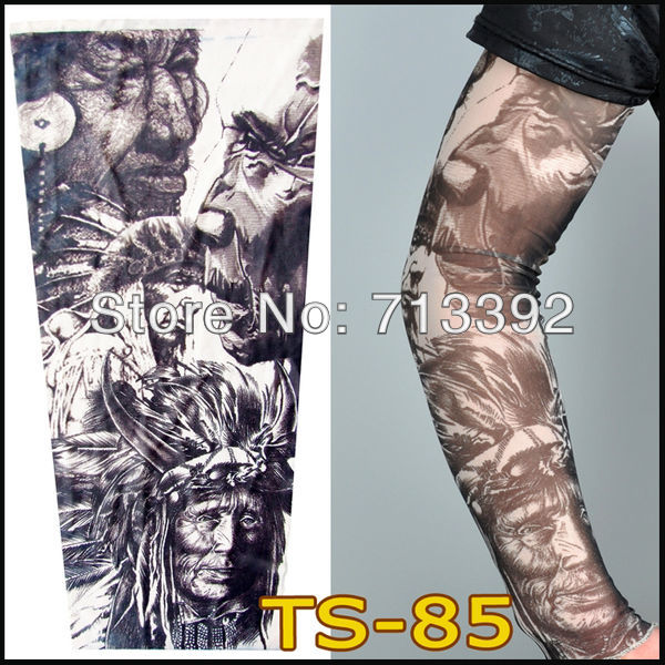 Hight  Quality Mixed 140 Styles Nylon Tattoo Sleeves For You Choose Fake Tattoo Arm Sleeves (60PCS/lot) Free Shipping<br><br>Aliexpress