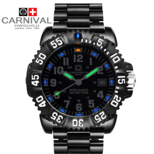 Swiss army watches watch outside sport watch male black steel strip special submersible men's watch