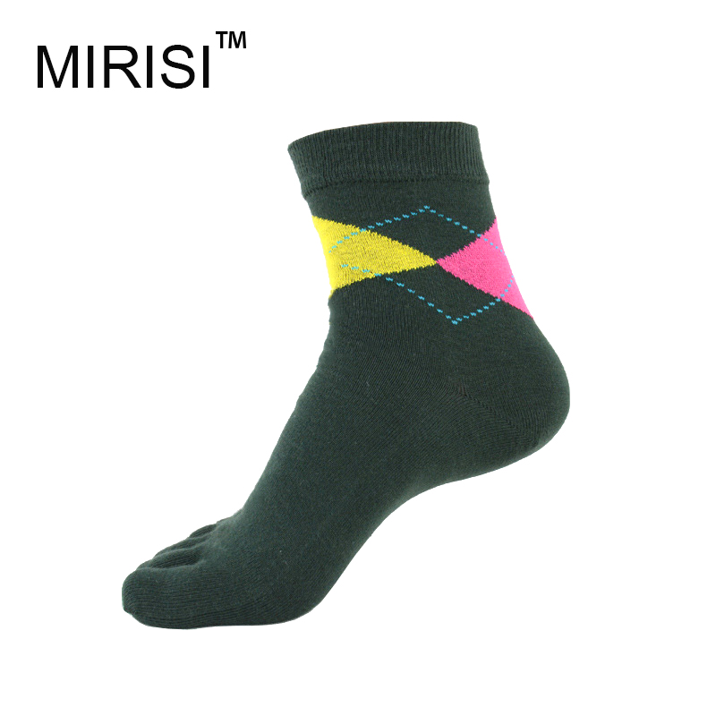 MIRISI Men's Five Toe Socks Cool Boys Argyle Socks Cotton Five Toe Socks Moisture Absorption Casual Fingers Socks(China (Mainland))