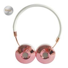 2016 Nueva Moda Wired Diadema Oro Rosa Auriculares Fone De Ouvido Auriculares Hi-fi Portátil para Reproductor de MP3 Teléfono Móvil BH870