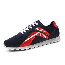 2016New men shoes luxury brand men genuine leather lace-up causal fashion men shoes zapatillas shoes online shop shoes homme(China (Mainland))