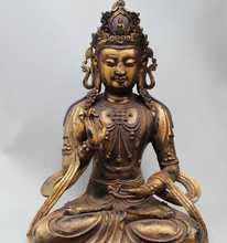"24"" China Tibet Buddhism Bronze Seat Kwan-yin Guan Yin Goddess Statue Sculpture(China (Mainland))"