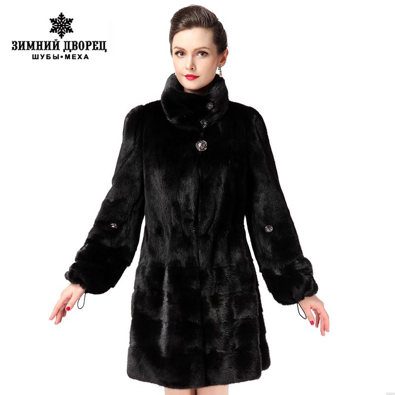 New style fashion fur coat,Genuine Leather,Mandarin Collar,good quality mink fur coat, women natural black coats of fur(China (Mainland))
