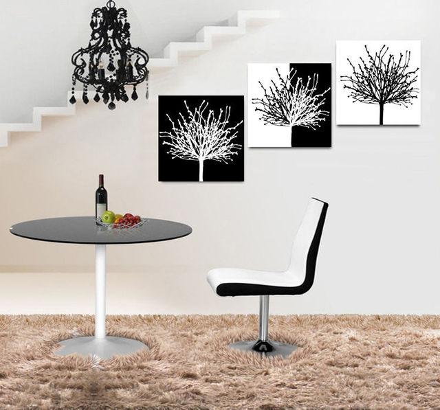 combinaison photo print peinture moderne maison bureau art noir et blanc pp66 dans peinture et. Black Bedroom Furniture Sets. Home Design Ideas