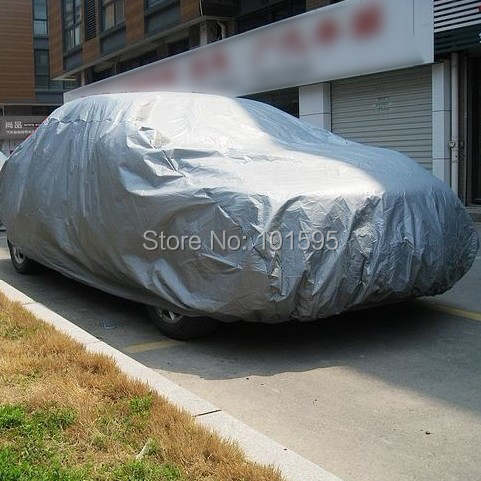 New Practical Car Cover Breathable UV Protection Outdoor Indoor Shield Dust Car Covers Sunny and Rainy Cover(China (Mainland))