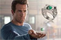 Green lantern ring stainless steel jewelry high quality crystal ring Lord of the rings ring