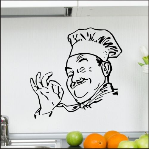 C201 CHEF KITCHEN Appetit cafe wall sticker cooking dining room graphic vinyl art decor(China (Mainland))