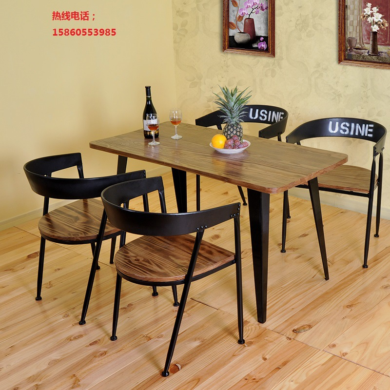 c Iron wood tables bar table computer desk table desk coffee table dinette combination of small units(China (Mainland))