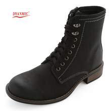Men Military Combat Boots Autumn New Men's Brand DYANMIC Black Leather Sport Boots Male Stylish Comfortable Shoes Free Shipping(China (Mainland))