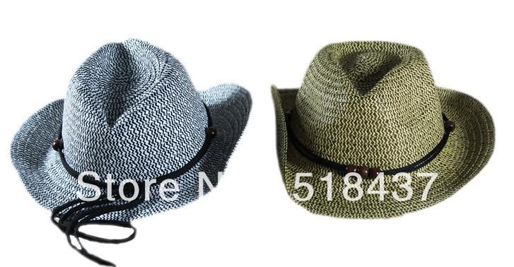 Kids strawhat summer cowboy hat children sun hats caps sunbonnet baby strawhat cowboy hats(China (Mainland))