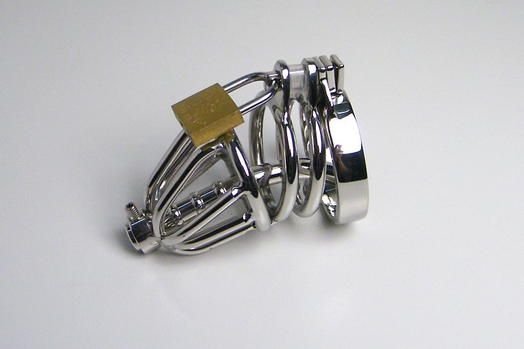 The Cock Ring Sex ockring RYCB - 003 Penis Sleeve Lockable Penis Lock Stainless Steel Penis Ring Chastity Belt Sex Toys For Men
