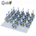 21pcs lot Lion Knight B Minifigure compatible ninja Building Block doll Castle Knight Brick Sluban Decool