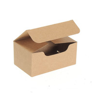 Best Price 50 PCS Small Kraft Paper Box Gift Craft Play Business Name Card Tea Soap Packaging Brown Boxes 9.3*5.6*4cm Approx